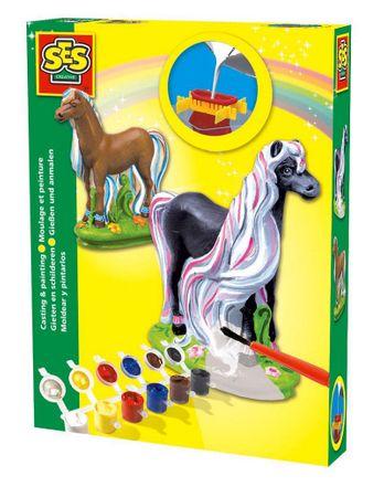 SES kreativni set Ustvarjam z mavcem, Čudoviti konji