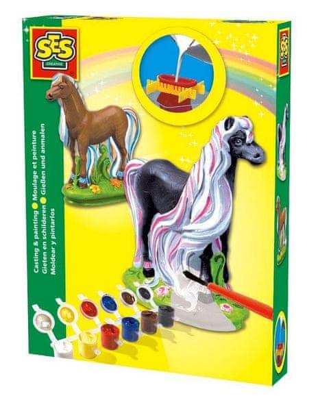 SES Sádrový komplet - kůň s hřívou