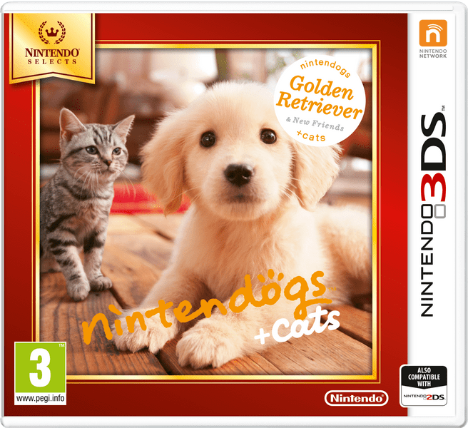 Nintendo 3DS Nintendogs + Cats: Golden Retriever & new Friends (Select)