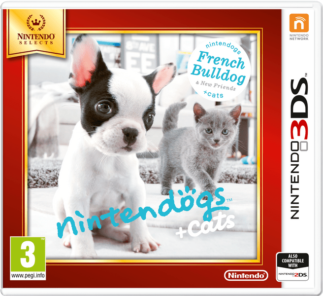 Nintendo 3DS Nintendogs + Cats: French Bulldog & new Friends (Select)