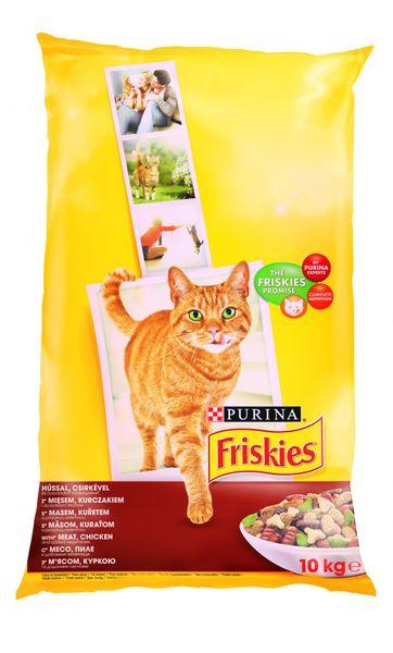 Friskies Cat s kuřecím masem a zeleninou 10 kg