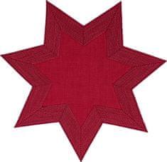 Sander Star Tányéralátét, Piros, 6 db