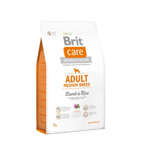 Brit hrana za pse srednjih pasem Care, jagnjetina, 3 kg