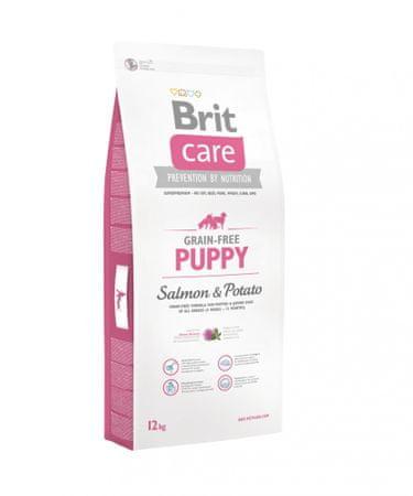 Brit hrana za pasje mladičke Care, losos, 12 kg