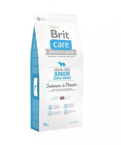 Brit Care Grain-free Junior Large Breed Salmon & Potato 12kg