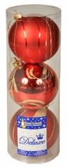 EverGreen Koule mix matné a lesklé 3 ks červená