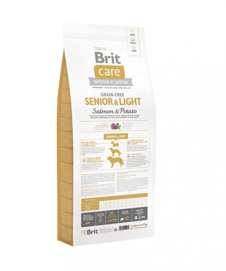 Brit Care Grain-free Senior&Light Salmon & Potato 12kg