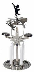 EverGreen Świecznik z dzwonkami, 30 cm, srebrny