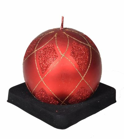 EverGreen okrugla svijeća, 10 cm, crvena