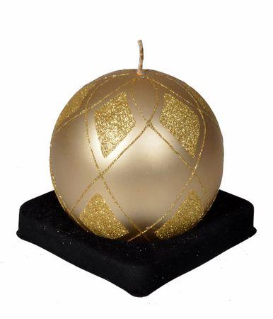EverGreen Svíčka koule, průměr 10cm, zlatá