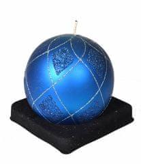 EverGreen Sviečka guľa, priemer 10 cm, modrá