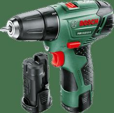 Bosch wiertarko-wkrętarka akumulatorowa PSR 10,8 LI-2, 2 akumulatory
