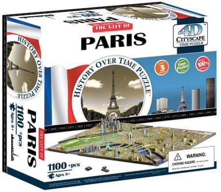 4D Cityscape Párizs Puzzle