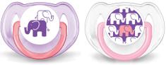 Avent Šidítko Obrázek 6-18m. bez BPA, 2ks - Slon dívčí