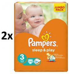 Pampers plienky Sleep&Play 3 Jumbo Midi - 2x78 ks