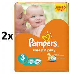 Pampers Pampers pieluchy Sleep&Play 3 Jumbo Midi - 156 szt