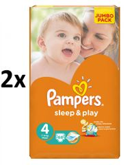 Pampers plienky Sleep&Play 4 Jumbo Maxi - 2x68 ks