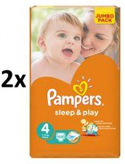 Pampers Pampers pieluchy Sleep&Play 4 Jumbo Maxi - 2x68 szt.
