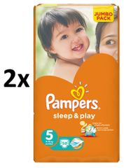 Pampers Sleep&Play 5 Jumbo Junior - 2 x 58 ks