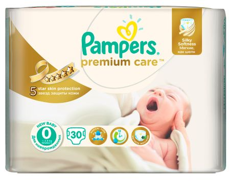 Pampers Premium Care 0 Newborn (do 2,5kg) - 30ks