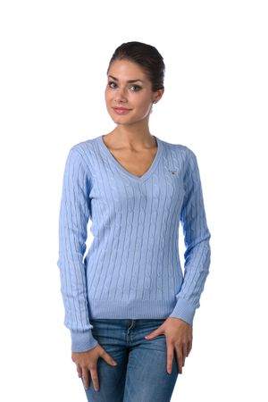 Gant pletený dámský svetr XL světle modrá