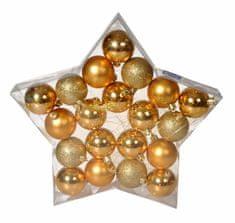 EverGreen božične bunkice, zlate, 6 cm, 20 kos