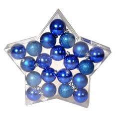 EverGreen Gömb karácsonyfadísz, 20 db, Kék