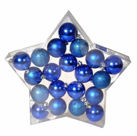 EverGreen božične bunkice, modre, 6 cm, 20 kos