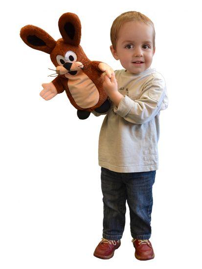 MÚ BRNO Zajac maňuška, 37 cm