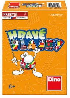 Dino Hravé vlajky společenská hra