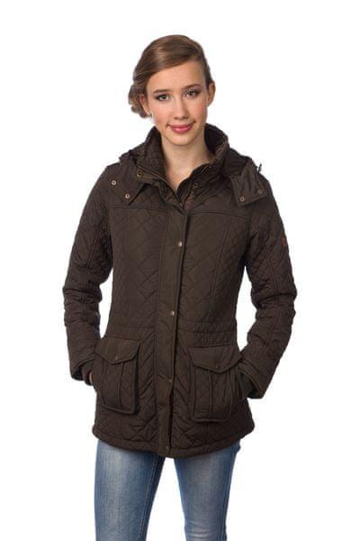 Timeout dámský prošívaný kabát XL tmavě zelená