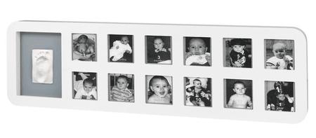 BabyArt moje prvo leto, fotografije in odtis, bel