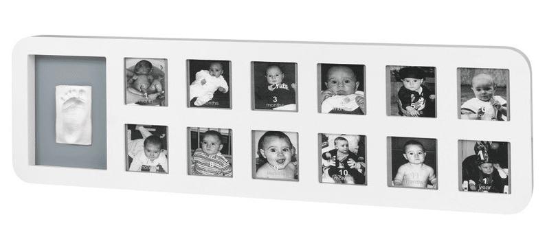 BabyArt Rámeček 1st Year Print Frame, White/Grey
