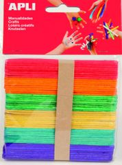 Nanuková dřívka Apli mix barev 150x18x2 mm/40 ks