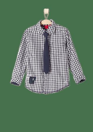 e6049878feb s.Oliver chlapecká košile s kravatou 98 tmavě modrá - Parametry ...