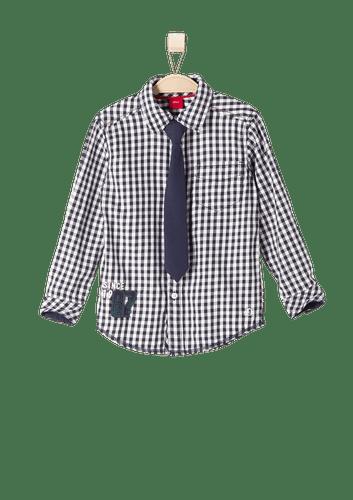 0f4c62825512 s.Oliver chlapecká košile s kravatou 98 tmavě modrá - Alternatívy ...