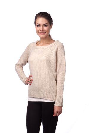 Brave Soul ženski pulover Mathews XS bež
