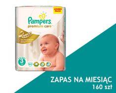 Pampers Premium Care Pieluchy, rozmiar 3 Midi 160 szt. zapas na miesiąc