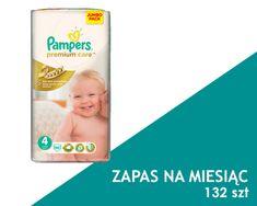 Pampers Premium Care Pieluchy rozmiar 4 Maxi 132szt pieluszki zapas na miesiąc