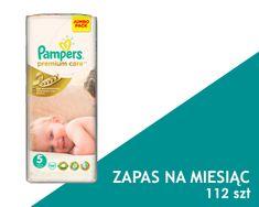 Pampers Premium Care Pieluchy rozmiar 5 Junior 112 szt zapas na miesiąc