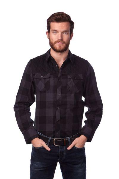 Brave Soul pánská košile Vorgia XL černá