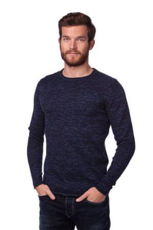 Brave Soul moški pulover Boren S temno modra
