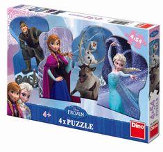 DINO Puzzle Ľadové kráľovstvo a priatelia