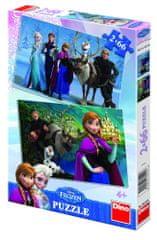 DINO puzzle Ľadové kráľovstvo 2 x 66 dielikov