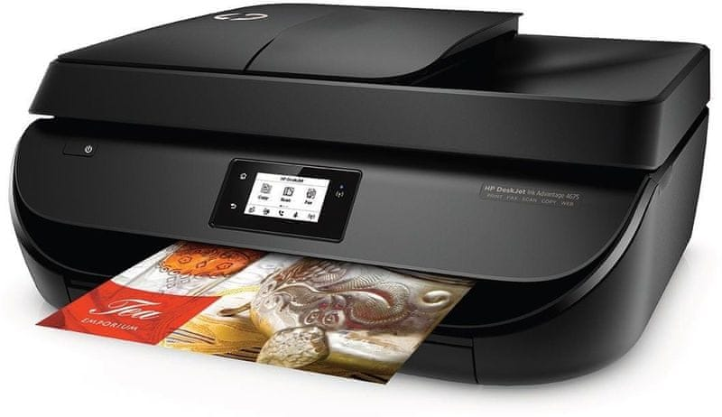 HP DeskJet Ink Advantage 4675 All-in-One (F1H97C) + 2 inkoustové náplně v ceně