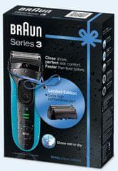 Braun brivnik Series 3-3040 Promo + nadomestni combipack
