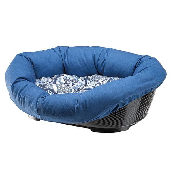 Ferplast pelech Sofa modrý se vzorem 4