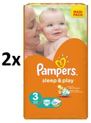Pampers Sleep&Play Economy 3 Midi - 2 x 58 ks