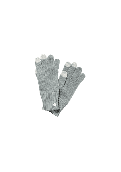 s.Oliver dívčí prstové rukavice S šedá