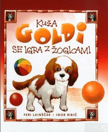 Feri Lainšček: Kuža Goldi se igra z žogicami